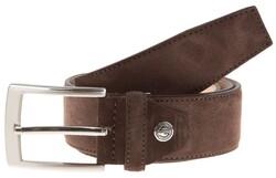 Lindenmann Wide Suede Belt Belt Dark Brown Melange