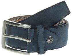 Lindenmann Wide Suede Belt Belt Light Blue