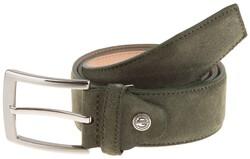 Lindenmann Wide Suede Belt Belt Olive Green