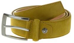 Lindenmann Wide Suede Belt Belt Yellow