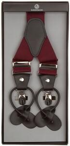 Lindenmann Y-Shape Leather Suspenders Bordeaux