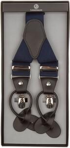 Lindenmann Y-Shape Leather Suspenders Marine