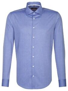 Seidensticker Uni Slim Spread Kent Sky Blue Melange
