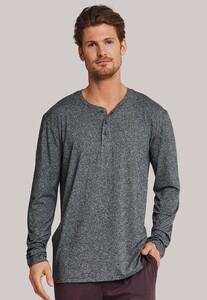 Schiesser Mix & Relax Modal T-Shirt Knoopjes Donker Grijs