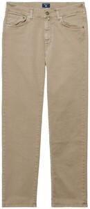 Gant Regular Straight Desert Jeans Midden Bruin