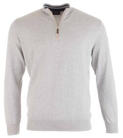 Paul & Shark Alcantara Contrasted Cotton Pullover Licht Grijs