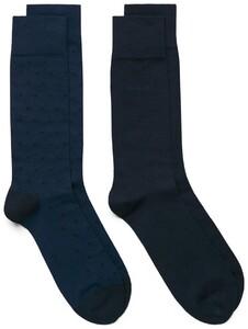 Gant 2Pack Dot And Solid Socks Yale Blue