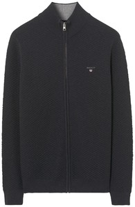 Gant Triangle Texture Fullzip Dark Gray
