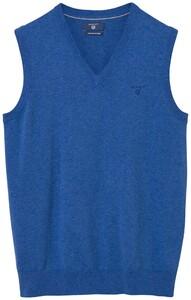 Gant Leight Weight Cotton Slipover Midden Blauw