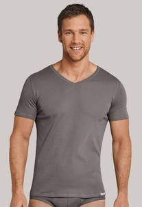 Schiesser Long Life Cool V-Neck Shirt Taupe