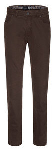 Gardeur CottonFlex 5-Pocket Regular Fit Donker Bruin