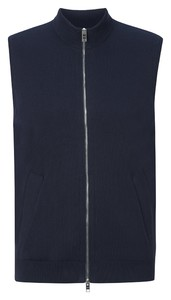 Maerz Bio Cotton Zipper Vest Navy