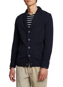 Maerz Button Cardigan Vest Navy