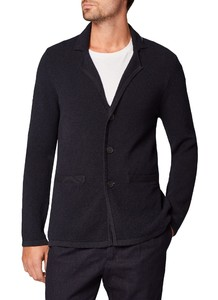 Maerz Button Cardigan Vest Navy
