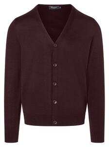 Maerz Button Cardigan Vest Oxblood