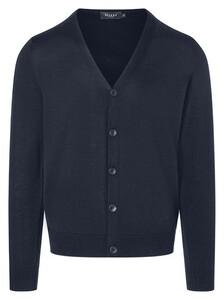 Maerz Button Cardigan Vest Vintage Blue
