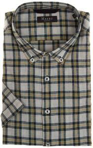 Maerz Button-Down Check Overhemd Kurkuma