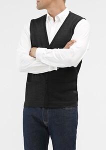 Maerz Button Merino Superwash Vest Antraciet