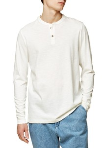 Maerz Button Shirt Long Sleeve T-Shirt Off White