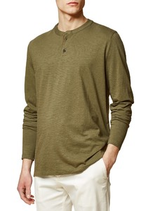 Maerz Button Shirt Long Sleeve T-Shirt Olive Paste