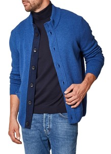 Maerz Buttoned Cardigan Vest Twilight Blue