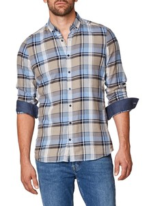 Maerz Check Button Down Overhemd Hardhout