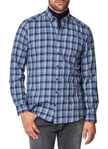 Maerz Check Flanel Overhemd Dodger Blue