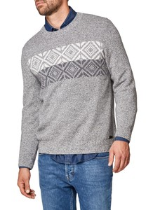 Maerz Check Pattern Melange Pullover Dark Gray