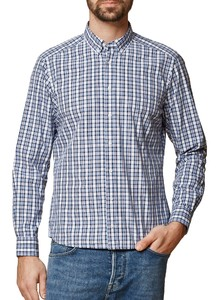 Maerz Check Shirt Button Down Overhemd Navy