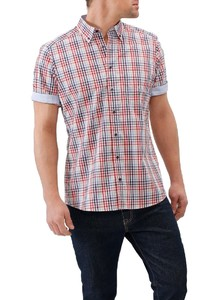 Maerz Check Short Sleeve Overhemd Winter Berry