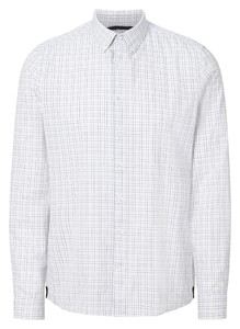 Maerz Classic Check Button Down Overhemd Blue Meringue