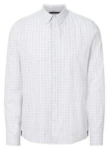 Maerz Classic Check Button Down Shirt Blue Meringue