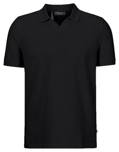 Maerz Cotton Linen Mix Polo Zwart