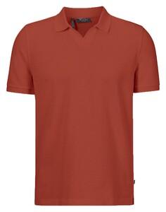 Maerz Cotton Linen Mix Poloshirt Brick