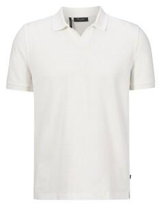 Maerz Cotton Linen Mix Poloshirt Clear White