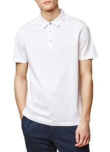 Maerz Cotton Poloshirt Polo Pure White