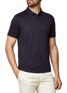 Maerz Cotton Poloshirt Poloshirt Navy