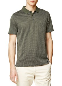Maerz Dotted Contrast Poloshirt Olive Paste