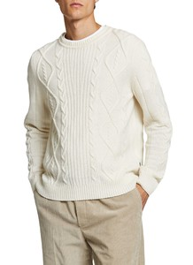 Maerz Fine Cable Structure Pullover Clear White