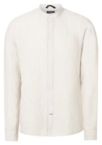 Maerz Fine Stripe Cotton Linnen Overhemd Zandstorm