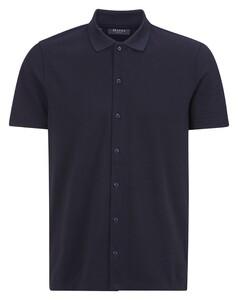 Maerz Jersey Shirt Cotton Kent Overhemd Navy