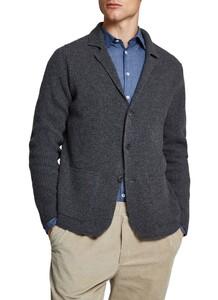 Maerz Knitted Button Cardigan Cardigan Dark Grey Melange