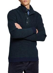 Maerz Knitted Contrast Trui Dusk Blue