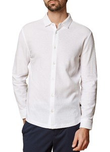 Maerz Knitted Polo Hemd Shirt Pure White