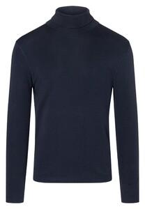 Maerz Long Sleeve Cotton T-Shirt Navy
