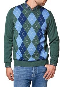 Maerz Merino Argyle Check Pullover Slate