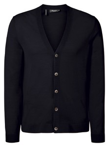 Maerz Merino Extrafine Button Cardigan Cardigan Navy