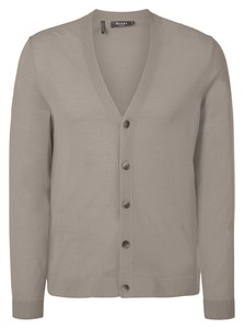 Maerz Merino Extrafine Button Cardigan Cardigan Sea Shell