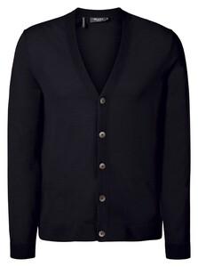 Maerz Merino Extrafine Button Cardigan Vest Navy