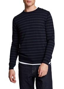 Maerz Merino Stripe Pullover Pullover Navy